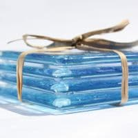 Fused Glass Coasters | Wave Design | Sally Kent